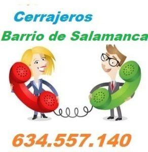 Telefono de la empresa cerrajeros Barrio de Salamanca