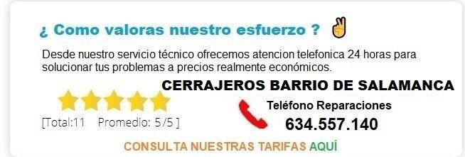 cerrajeros Barrio de Salamanca precios